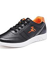 preiswerte -Herrn Schuhe PU Frühling Herbst Komfort Sneakers für Normal Weiß Schwarz Blau