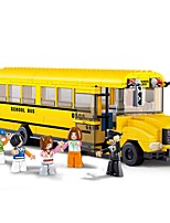 cheap -Building Blocks Bus Toys Vehicles School Pieces
