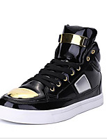 cheap -Men's Shoes Synthetic Microfiber PU Spring Comfort Sneakers for Casual Gold White Black