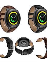 Недорогие -Ремешок для часов для Gear Sport Gear S2 Classic Huawei Watch 2 Samsung Galaxy Классическая застежка Натуральная кожа Повязка на запястье