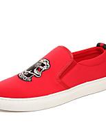 Недорогие -Муж. обувь Ткань Весна Осень Удобная обувь Мокасины и Свитер для Повседневные Черный Красный