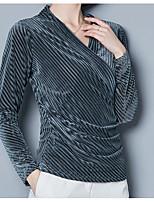 abordables -Tee-shirt Femme,Couleur Pleine Imprimé Basique