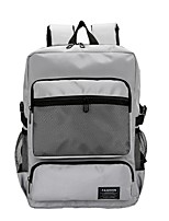 cheap -Men's Unisex Bags Canvas Backpack Zipper for Casual Outdoor All Seasons Red Beige Gray Coffee Light Grey