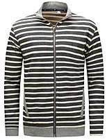 cheap -Men's Sweatshirt - Striped Round Neck