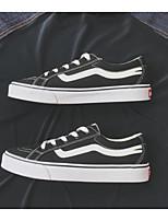 Недорогие -Универсальные обувь Полотно Весна Осень Удобная обувь Кеды для Повседневные Черный