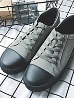 abordables -Homme Chaussures Cuir Nubuck Eté Confort Basket pour Décontracté Noir Gris