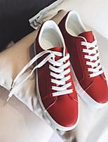 preiswerte -Herrn Schuhe Künstliche Mikrofaser Polyurethan Frühling Herbst Komfort Sneakers für Normal Weiß Schwarz Rot