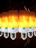 baratos -YWXLIGHT® 6pcs 5W 400-500 lm E26/E27 E12/E14 B22 Lâmpada Redonda LED T 99 leds SMD 3528 Flickering da chama Decorativa Amarelo Quente AC
