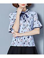 cheap -Women's Vintage Blouse-Solid Colored