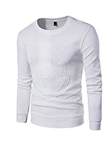 cheap -Men's Sports Casual Long Sleeves Slim Sweatshirt - Solid Colored Round Neck