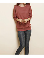 cheap -Women's Butterfly Sleeve Slim T-shirt - Solid