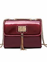 cheap -Women's Bags PU Shoulder Bag Buttons / Tassel for Shopping Green / Black / Red
