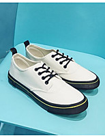 cheap -Men's Shoes Canvas Spring Fall Comfort Sneakers for Casual White Black