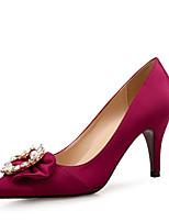 preiswerte -Damen Schuhe Glitzer Seide Herbst Komfort High Heels Stöckelabsatz Spitze Zehe Strass Perlenstickerei für Hochzeit Party & Festivität