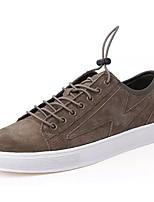 Недорогие -Муж. обувь Нубук Весна Осень Удобная обувь Кеды для Повседневные Черный Хаки