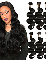cheap -Brazilian Hair Body Wave Human Hair Weaves 1pc Natural Color Hair Weaves