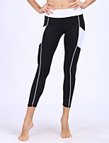 abordables -BARBOK Femme Pantalon de yoga Collants - Des sports Yoga, Course / Running, Fitness Avion-école, Yoga, Séchage rapide strenchy Noir