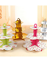 cheap -Birthday Party Party Tableware - Cake Stand Patterned Ruffle Paper Birthday