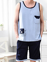 abordables -Costumes Vêtement de nuit Homme - Basique, Géométrique