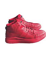 Недорогие -Муж. обувь Полиуретан Зима Удобная обувь Кеды для Повседневные Белый Черный Красный