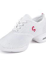 "cheap -Women's Dance Sneakers Tulle Canvas Sneaker Outdoor Splicing Low Heel White 1"" - 1 3/4"" Customizable"