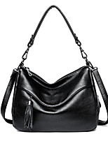cheap -Women's Bags PU Tote Tassel for Casual Office & Career All Seasons Blue Black Purple Bronze Wine