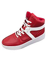 Недорогие -Муж. обувь Микроволокно Зима Осень Удобная обувь Кеды для Повседневные на открытом воздухе Белый Черный Красный