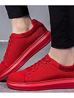 Недорогие -Муж. обувь Тюль Весна Осень Удобная обувь Кеды для Повседневные Черный Красный