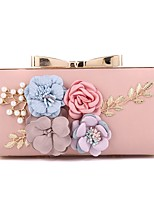 cheap -Women's Bags PU Evening Bag Bow(s) Pearl Detailing Flower for Wedding Event/Party All Seasons Gold Black Silver Blushing Pink