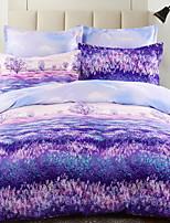 cheap -Duvet Cover Sets Floral Mixed Color 3 Piece Poly/Cotton 100% Cotton Printed Poly/Cotton 100% Cotton 1pc Duvet Cover 1pc Sham 1pc Flat