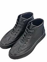 abordables -Homme Chaussures Polyuréthane Hiver Confort Basket pour Décontracté Blanc Noir Rouge