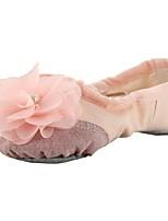 abordables -Femme Chaussures de Ballet Toile Plate Entraînement Fleur Talon Plat Personnalisables Chaussures de danse Noir / Beige / Rose