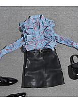 abordables -Mujer Blusa - Floral Escote Chino Falda