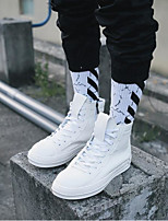 cheap -Men's Shoes PU Winter Fall Comfort Sneakers for Casual White Black