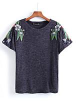 abordables -Tee-shirt Femme, Fleur Basique Chic de Rue