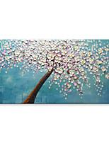abordables -Peint à la main Abstrait A fleurs/Botanique Format Horizontal, Contemporain Moderne Toile Peinture à l'huile Hang-peint Décoration