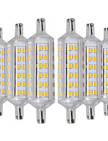 preiswerte -YWXLIGHT® 6pcs 6W 500-600lm R7S LED Mais-Birnen 72 LED-Perlen SMD 2835 Warmes Weiß 220-240V