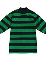 abordables -Robe Fille de Quotidien Rayé Polyester Printemps Manches Longues Rétro Vert Véronèse