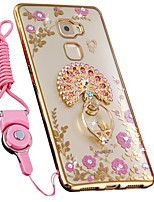 cheap -Case For Huawei Mate 10 Shockproof Rhinestone with Stand Back Cover Animal Soft Silicone for Huawei Mate S