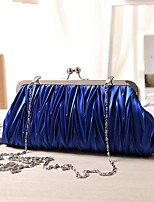 cheap -Women's Bags Silk Evening Bag Buttons for Event/Party Casual All Seasons Blue Red