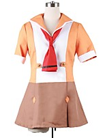 baratos -Inspirado por Macross Frontier Fantasias Anime Fantasias de Cosplay Ternos de Cosplay Outro Manga Curta Vestido Mais Acessórios Para