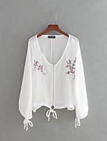 Недорогие -Жен. Блуза V-образный вырез Очаровательный