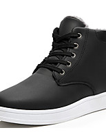 cheap -Men's Shoes PU Fall Winter Snow Boots Comfort Boots Booties/Ankle Boots for Casual Black Blue Light Brown