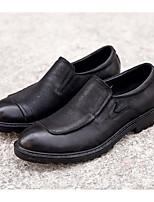Недорогие -Муж. обувь Кожа Наппа Leather Весна Осень Удобная обувь Мокасины и Свитер для Повседневные Черный