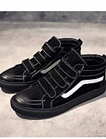 Недорогие -Муж. обувь Свиная кожа Весна Осень Удобная обувь Кеды для Повседневные Черный