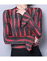 cheap -Women's Vintage Puff Sleeve Blouse - Polka Dot, Tassel