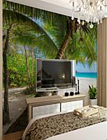 abordables -arbres/Feuilles Décoration artistique 3D Décoration d'intérieur Classique Moderne Revêtement, Toile Matériel adhésif requis Mural, Couvre
