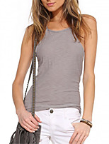 cheap -Women's Holiday Active Cotton Slim Tank Top - Solid Colored, Racerback
