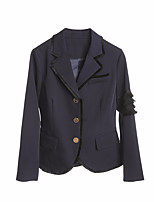 cheap -Women's Cotton Leather Jacket - Solid Colored, Pleated
