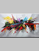 cheap -Hand-Painted Abstract Pop Art Horizontal, Modern Canvas Oil Painting Home Decoration One Panel